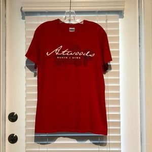 Tops - Atwood's Logo Red T-shirt